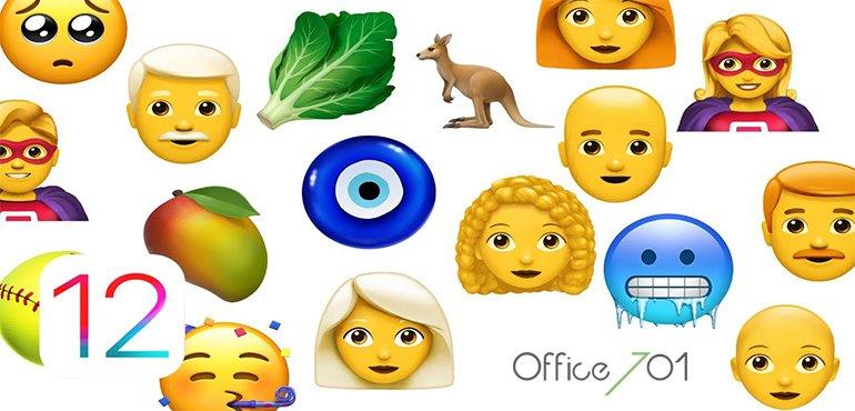Office701 | APPLE iOS 12.1 İLE BİRLİKTE YENİ EMOJİLER GETİRİYOR