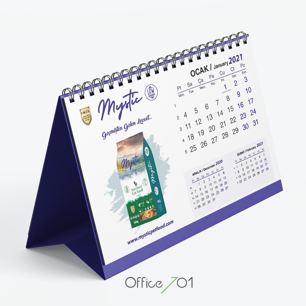 Office701 | Mysticpetfood Takvim Tasarımı