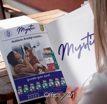 Office701 | Mystic Pet Food |  Magazine Design